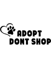 Adopt dont shop (Black)