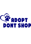Adopt dont shop (Blue)